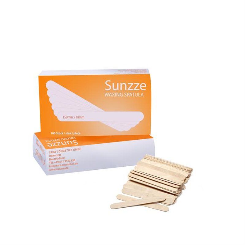 Sunzze wooden spatulas for depilation wax 100 pcs.